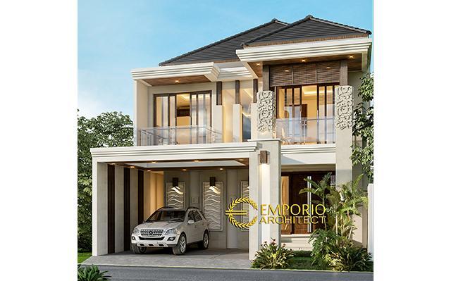 Desain Rumah Villa Bali 2 Lantai Bapak Fahmi di  Sidoarjo, Jawa Timur