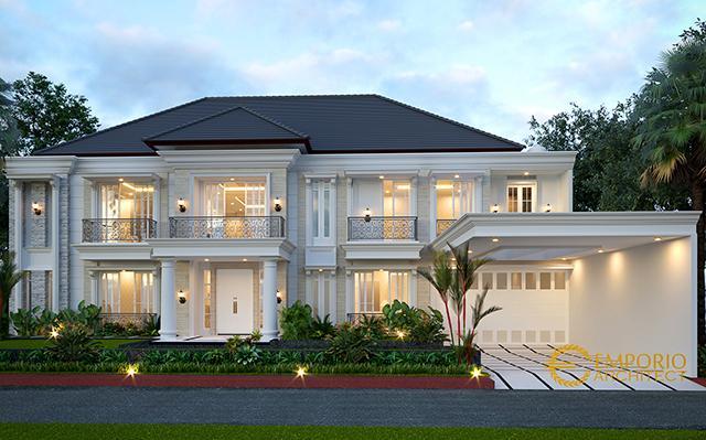 Desain Rumah Classic 2 Lantai Bapak Pongky di  Solo, Jawa Tengah