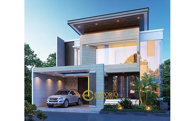 Desain Rumah Modern 2 Lantai Bapak Wiyono di  Solo, Jawa Tengah