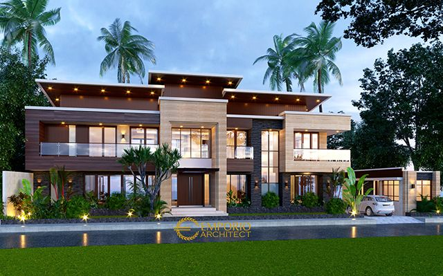 Mr. Andy Modern House 2 Floors Design - Sumatera Utara