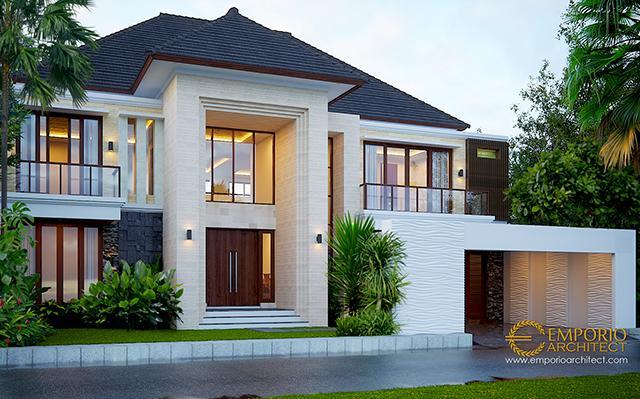 Desain Rumah Modern 2 Lantai Bapak Nelson di  Sumatera Utara