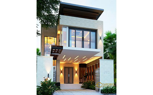Mrs. Herlina Modern House 2 Floors Design - Sumatera Utara