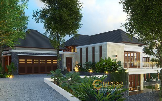 Desain Rumah Villa Bali 2 Lantai Ibu Rahma di  Sumedang, Jawa Barat