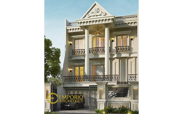 Desain Rumah Classic 3 Lantai Bapak Erik di  Sunter, Jakarta
