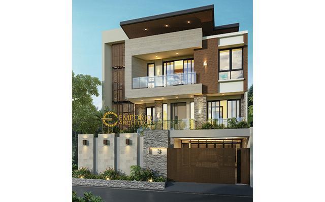Desain Rumah Modern 3 Lantai Bapak Dicky di  Sunter, Jakarta Utara