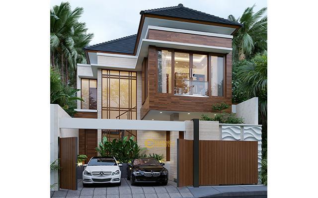 Desain Rumah Modern 2 Lantai Bapak Andi di  Surabaya