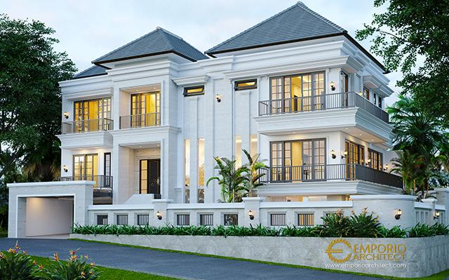 Mrs. Chrislie Classic House 3 Floors Design - Surabaya