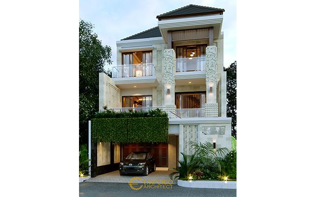 Desain Rumah Villa Bali 3 Lantai Ibu Lidesy Layarda di  Surabaya