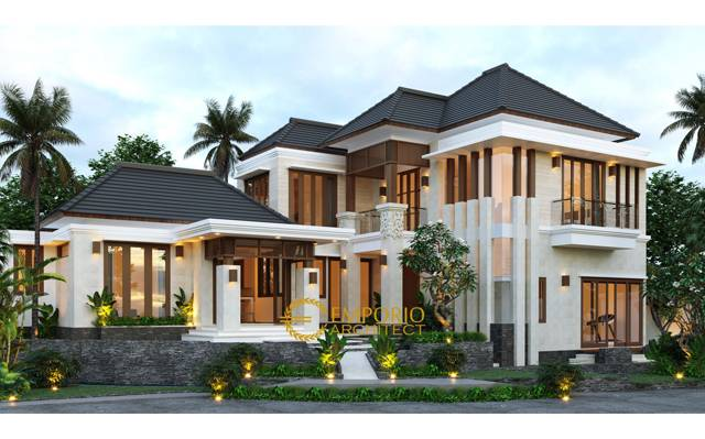 Desain Rumah Villa Bali 2 Lantai Mr. Dylan di  Tabanan, Bali