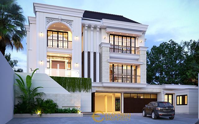 Desain Rumah Classic 3 Lantai Bapak Adi  di  Lippo Karawaci, Tangerang, Banten