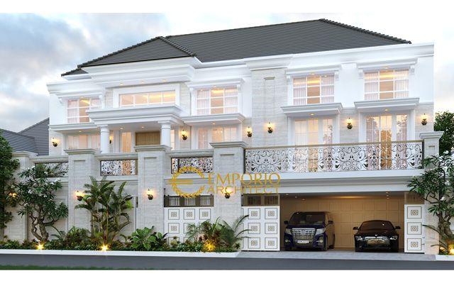 Desain Rumah Classic 3 Lantai Mrs. E di  Tangerang, Banten