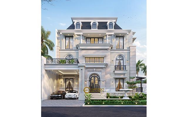 Mrs. Susana Classic House 3 Floors Design - Tangerang, Banten