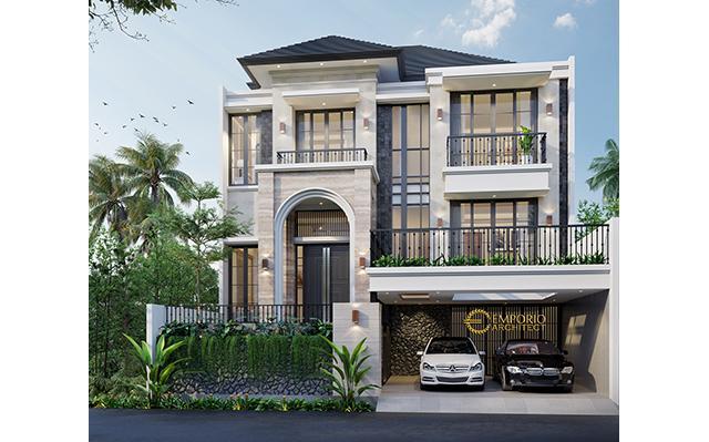 Desain Rumah Unik 2.5 Lantai Ibu Wulansari di  Tangerang, Banten