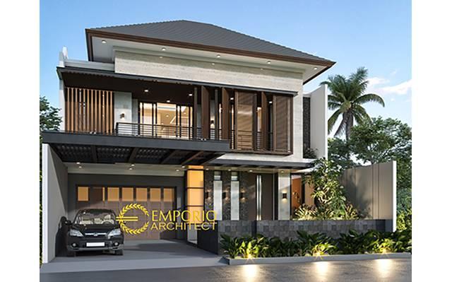 Desain Rumah Modern 2 Lantai Bapak Kevin di  Tangerang, Banten