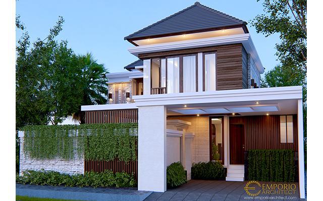 Desain Rumah Villa Bali 2 Lantai Bapak Rio di  Ciputat, Tangerang Selatan