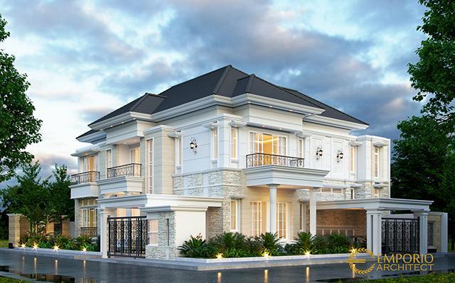 Mr. Fajar Classic House 2.5 Floors Design - Tangerang Selatan, Banten