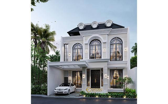 Desain Rumah Classic 2 Lantai Ibu Diah di  Tangerang Selatan, Banten