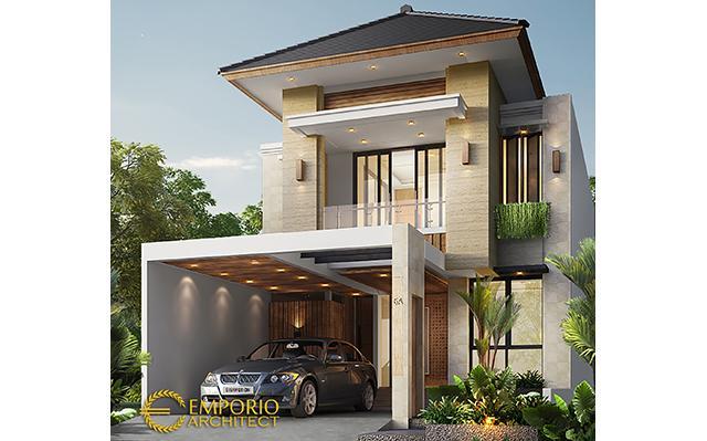 Desain Rumah Modern 2 Lantai Ibu Gaya di  Tangerang Selatan