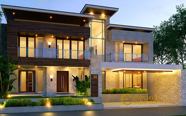 Mrs. Weni Modern House 2 Floors Design - Tanjung Selor, Kalimantan Utara