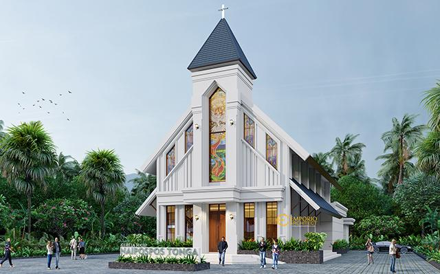 Naipospos Tonga Classic Church 2 Floors Design - Tapanuli, Sumatera Utara