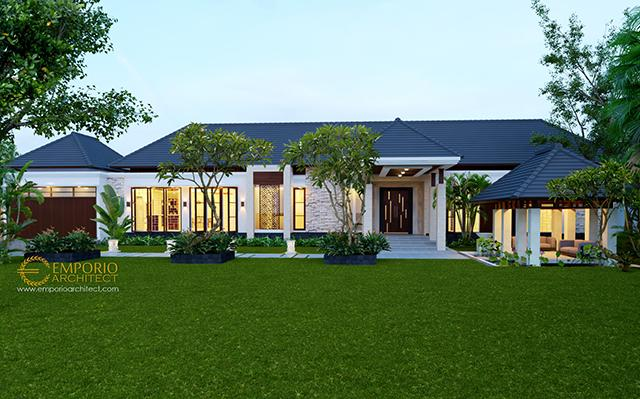 Desain Rumah Villa Bali 1 Lantai Bapak Muddain di  Tarakan, Kalimantan Utara