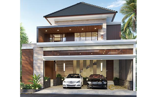 Desain Rumah Modern 2 Lantai Bapak Oggy di  Yogyakarta