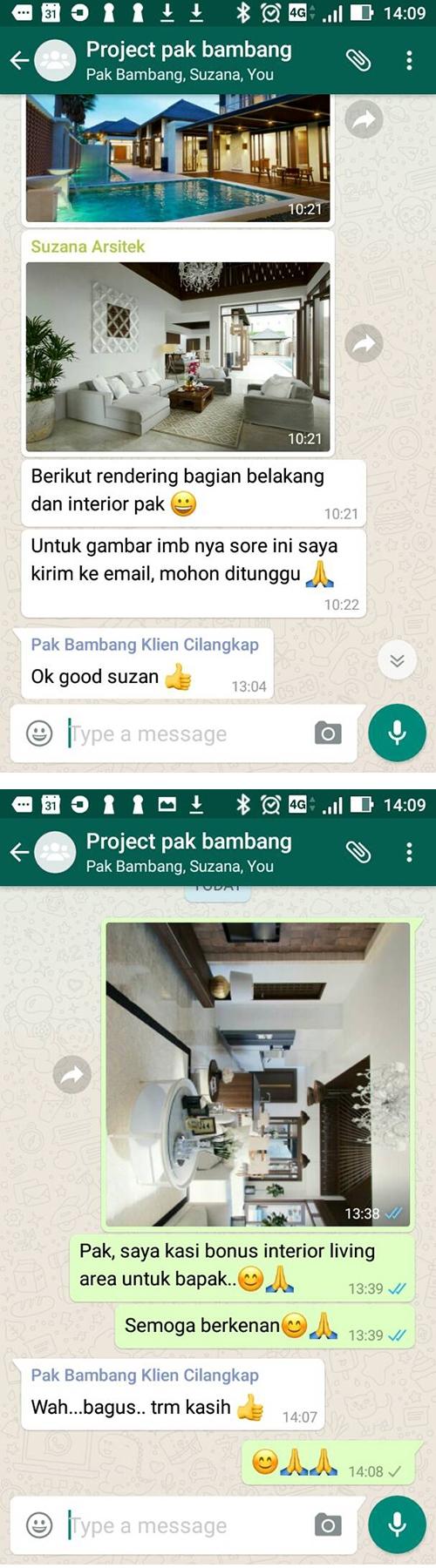 Testimonial Desain Rumah Villa Bali 2 Lantai Bapak Bambang