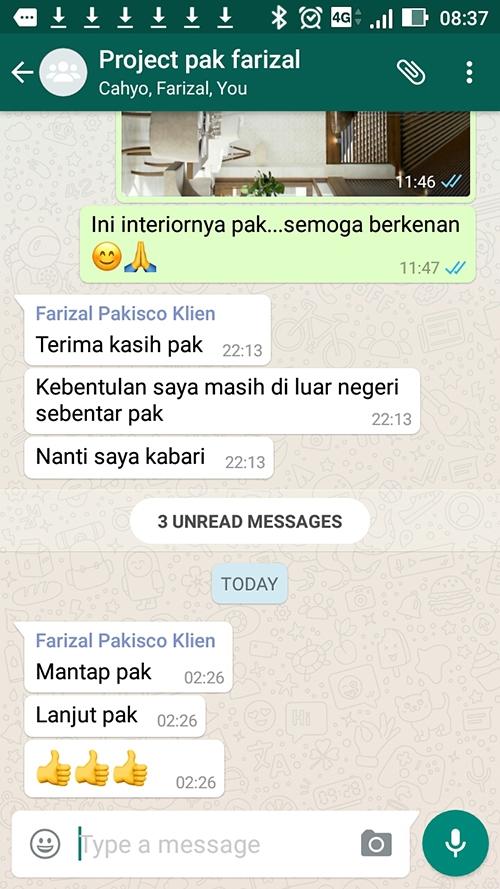 Testimonial Desain Rumah Villa Bali 1 Lantai Bapak Farizal di  Aceh