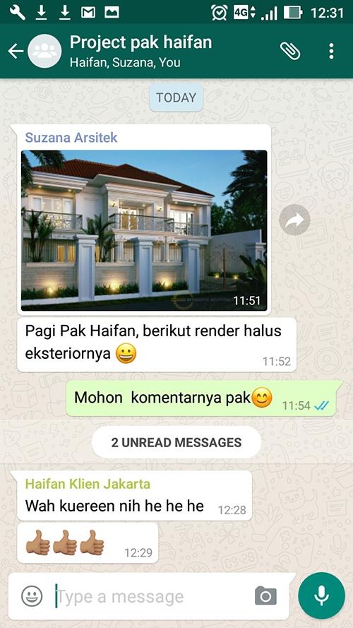 Testimonial Desain Rumah Classic 2 Lantai Bapak Haifan
