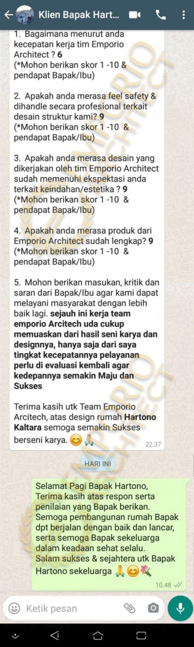 Testimonial Mr. Hartono Classic House 2 Floors Design - Kalimantan Utara