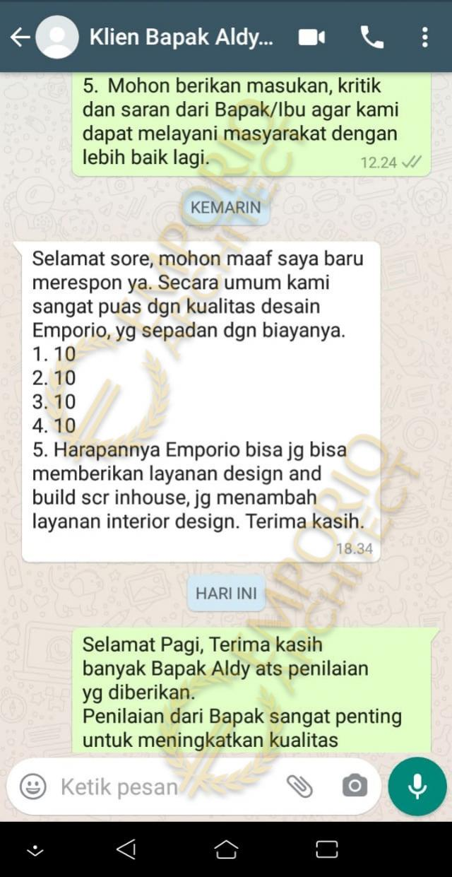 Testimonial Mr. A Classic House 2 Floors Design - Bintaro, Jakarta