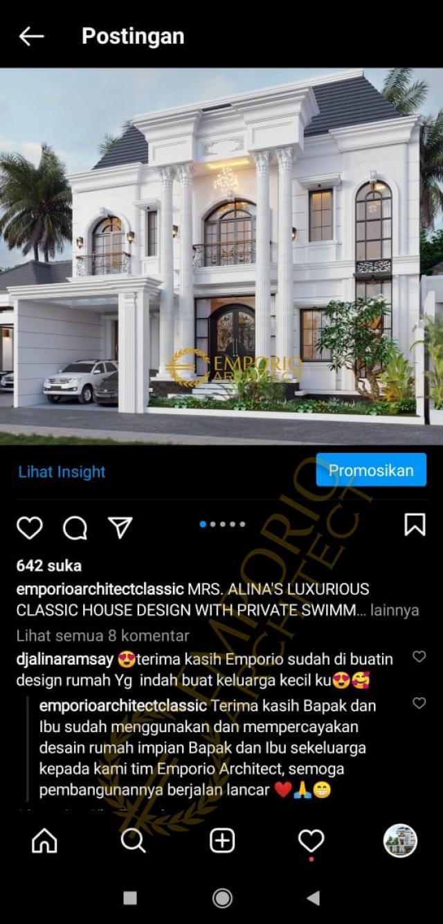 Testimonial Mrs. Alina Classic House 2 Floors Design - Badung, Bali