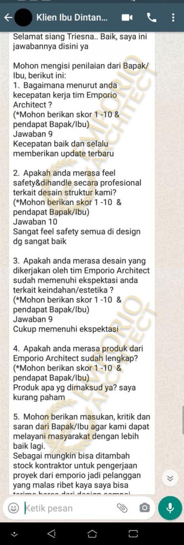 Testimonial Mrs. Dintan Classic House 3 Floors Design - Jakarta Utara