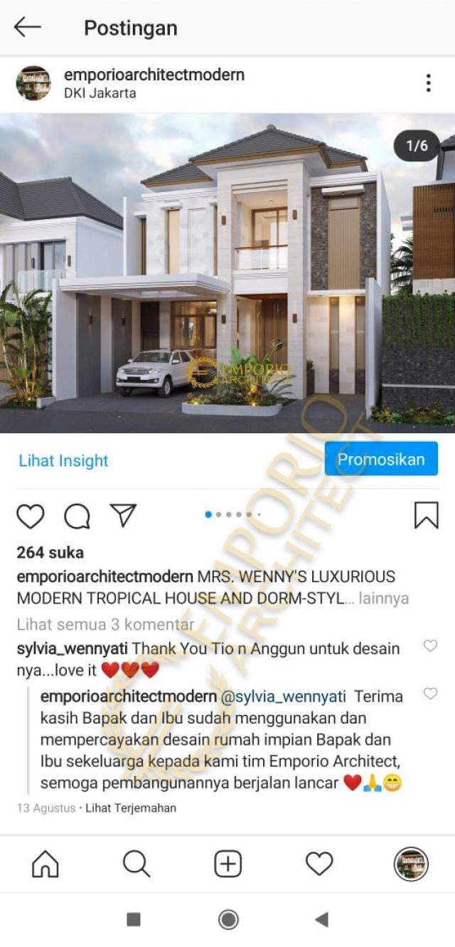 Testimonial Desain Rumah dan Kost Modern 2 Lantai Ibu Wenny