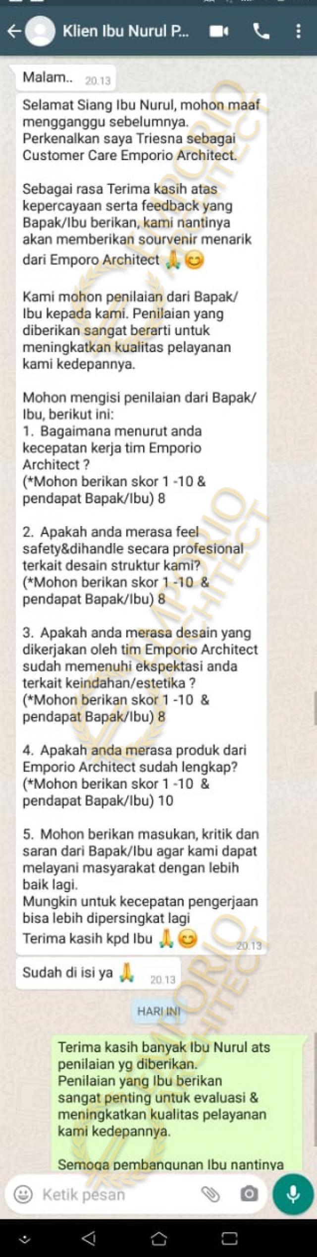 Testimonial Mrs. Nurul Mediteran House 2 Floors Design - Ponorogo, Jawa Timur