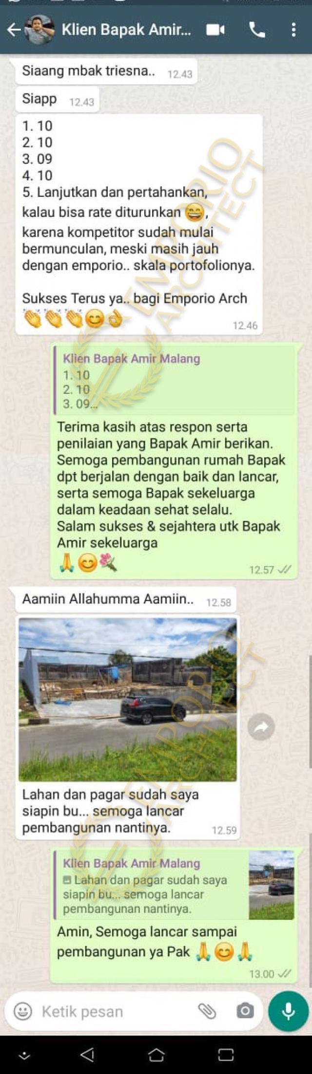 Testimonial Desain Rumah Mediteran 2.5 Lantai Bapak Amir Prayoga