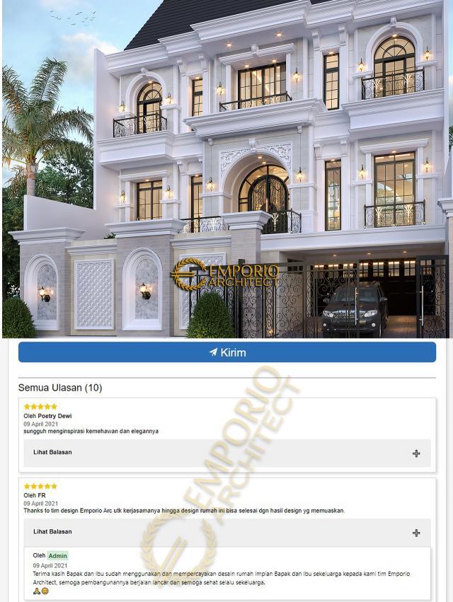 Testimonial Mrs. Debbie Mediterranean House 3 Floors Design - Jakarta Utara