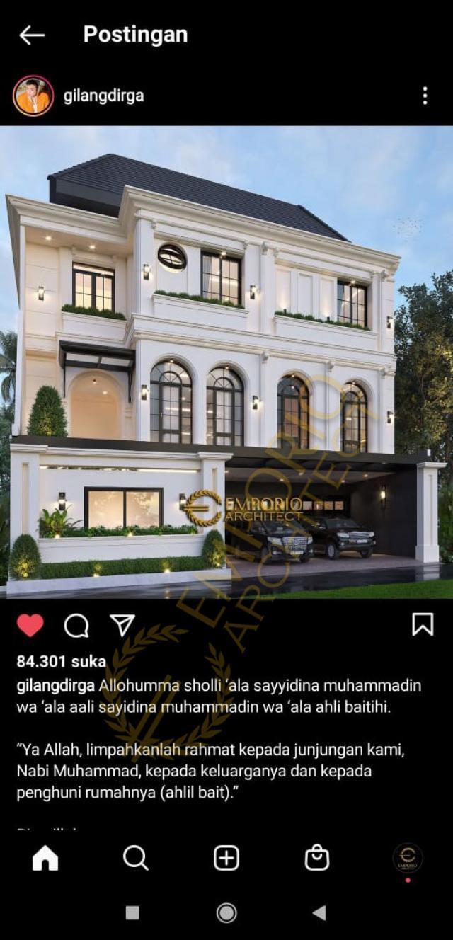 Testimonial Desain Rumah Mediteran 3 Lantai Bapak Gilang Dirga dan Ibu Adiezty Fersa di Bekasi