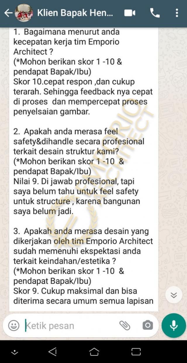 Testimonial Mr. Hendry Modern House 2 Floors Design - Banjarmasin, Kalimantan Selatan