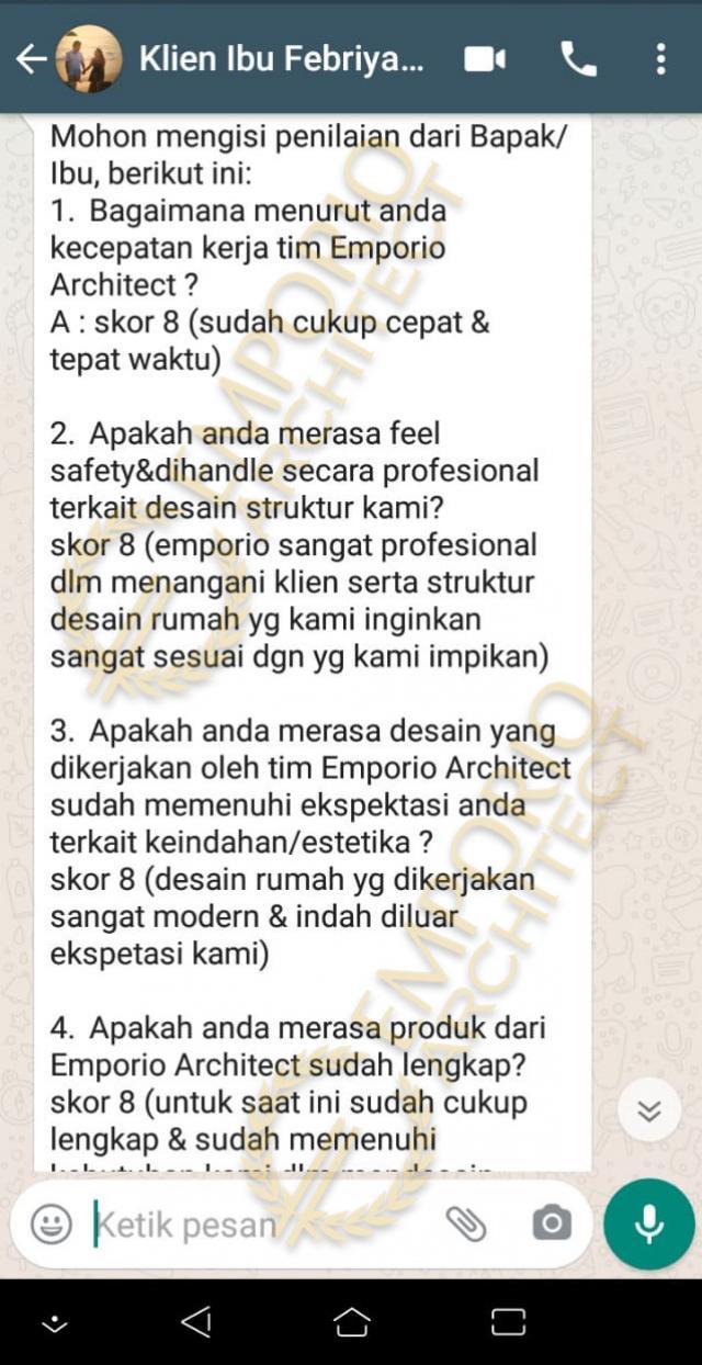 Testimonial Mrs. Febry Modern House 2 Floors Design - Jayapura, Papua
