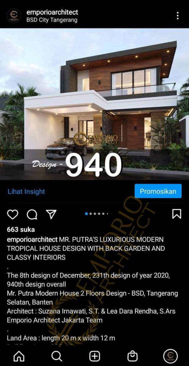 Testimonial Mr. Putra Modern House 2 Floors Design - BSD, Tangerang Selatan, Banten
