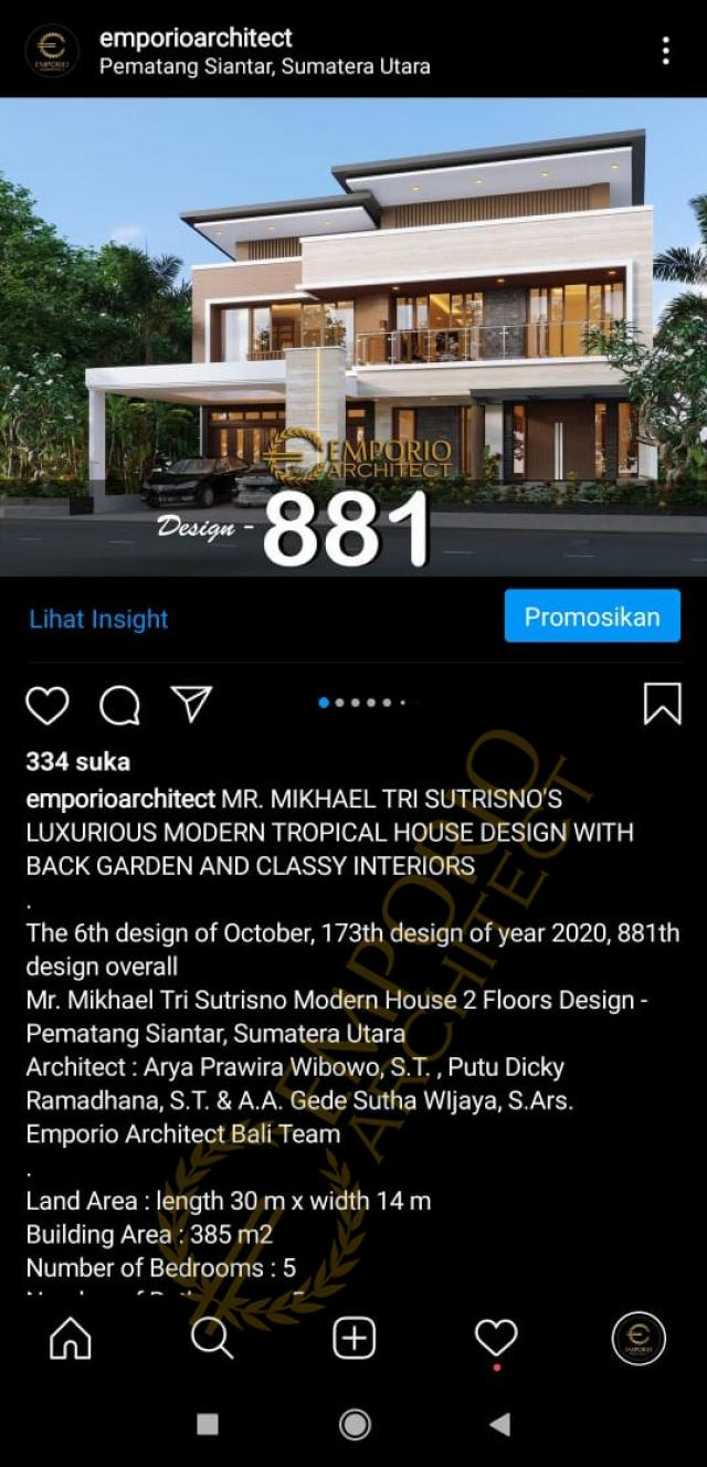 Testimonial Desain Rumah Modern 2 Lantai Bapak Mikhael Tri Sutrisno