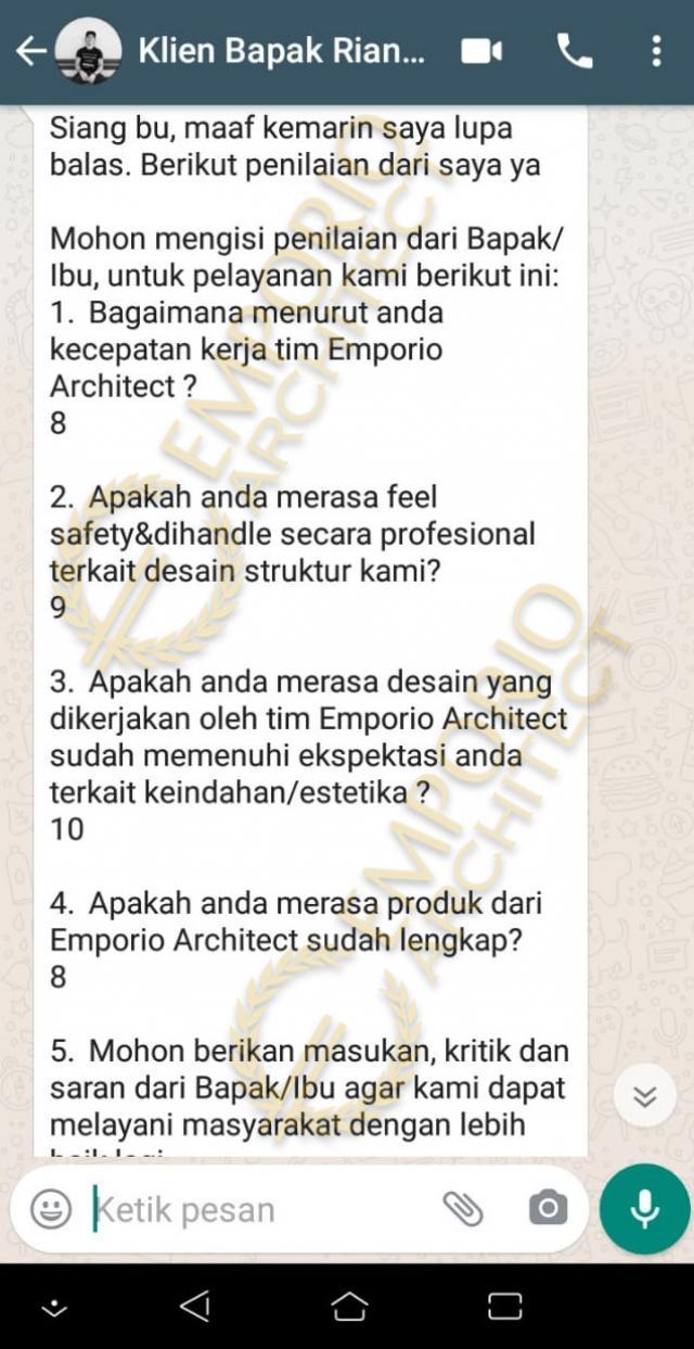 Testimonial Mr. RM Modern House 2 Floors Design - Bogor, Jawa Barat