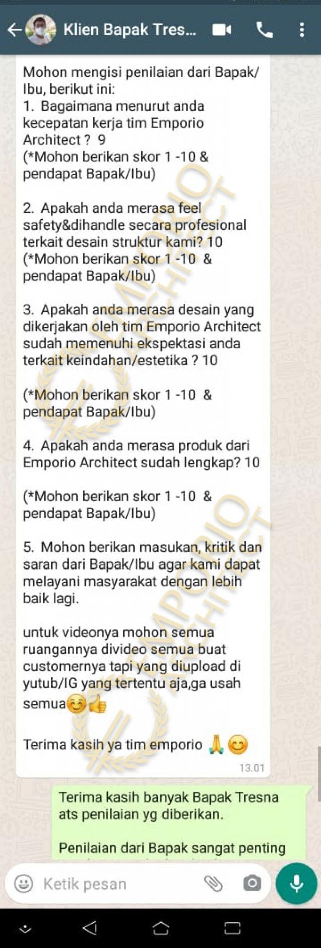 Testimonial Mrs. Asty Modern House 2 Floors Design - Ponorogo, Jawa Timur