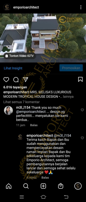 Testimonial Desain Rumah Modern 3 Lantai Ibu Melisa