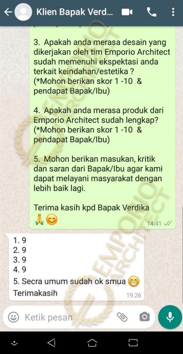 Testimonial Desain Rumah Modern 3.5 Lantai Bapak V
