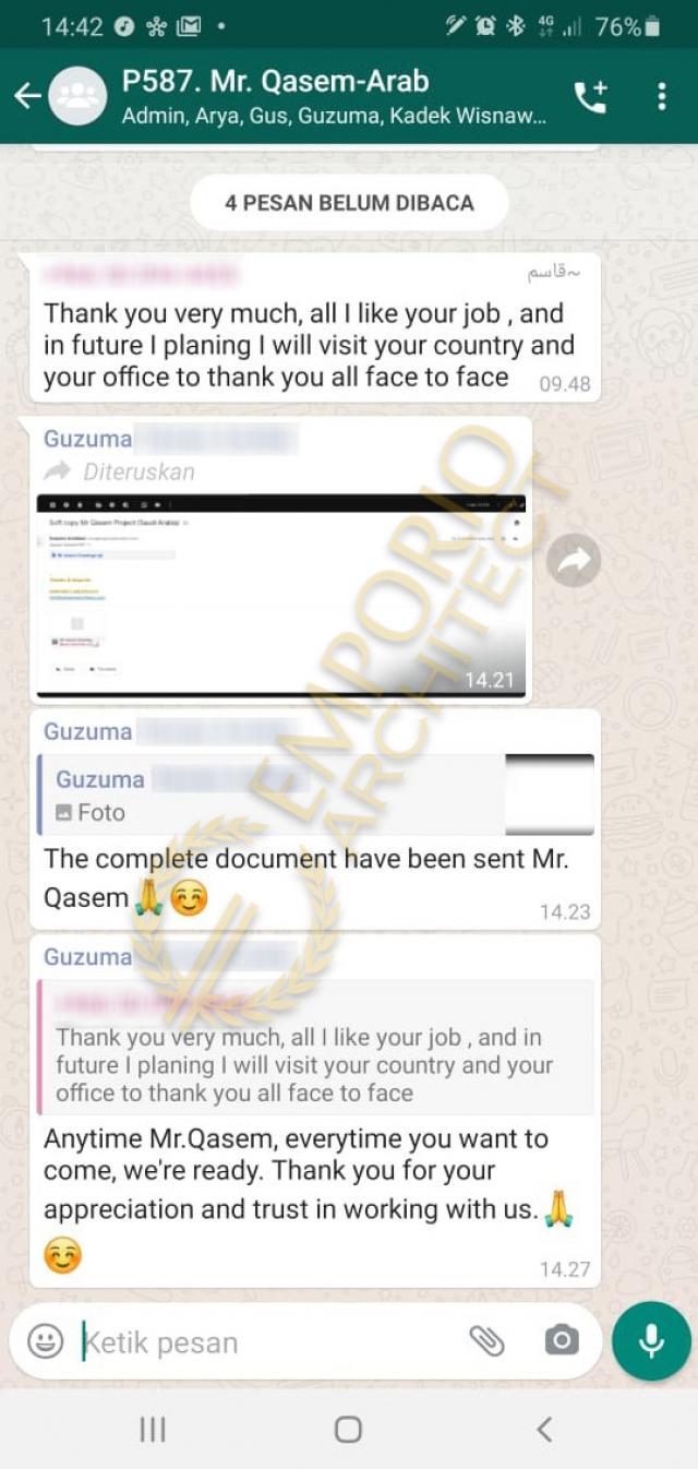 Testimonial Desain Rumah Modern 4 Lantai Mr. Qasem