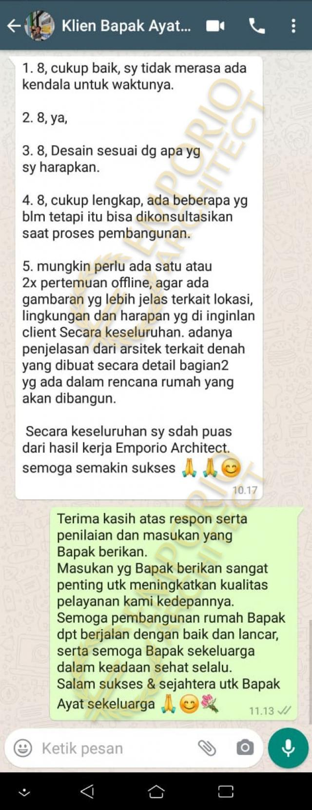 Testimonial Desain Rumah Villa Bali 1 Lantai Bapak Ayat
