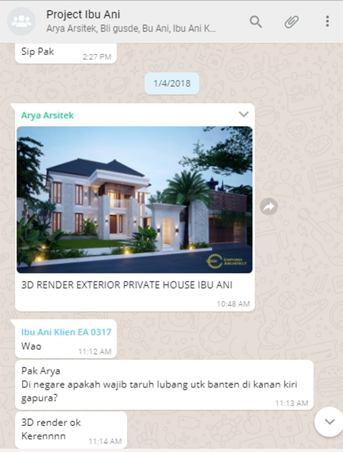 Testimonial Desain Rumah Villa Bali 2 Lantai Ibu Ani di  Negara, Jembrana, Bali