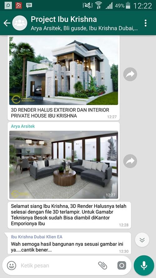 Testimonial Desain Rumah Villa Bali 2 Lantai Ibu Khrisna
